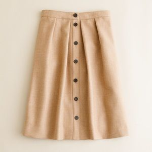 J Crew Flair skirt in double-serge wool